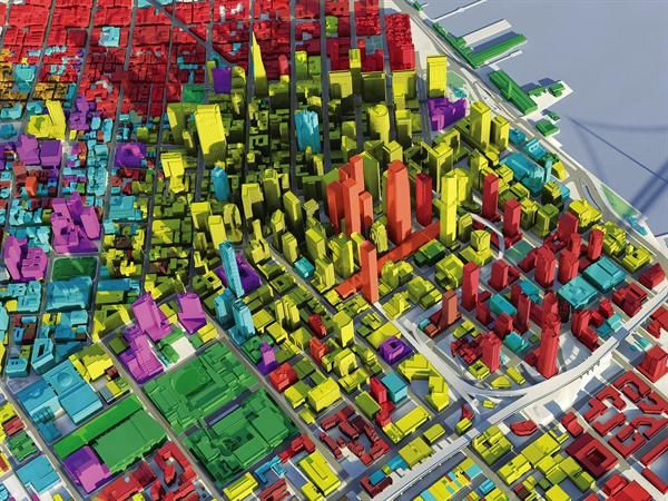 3D model of San Francisco developed by Skidmore Owings and