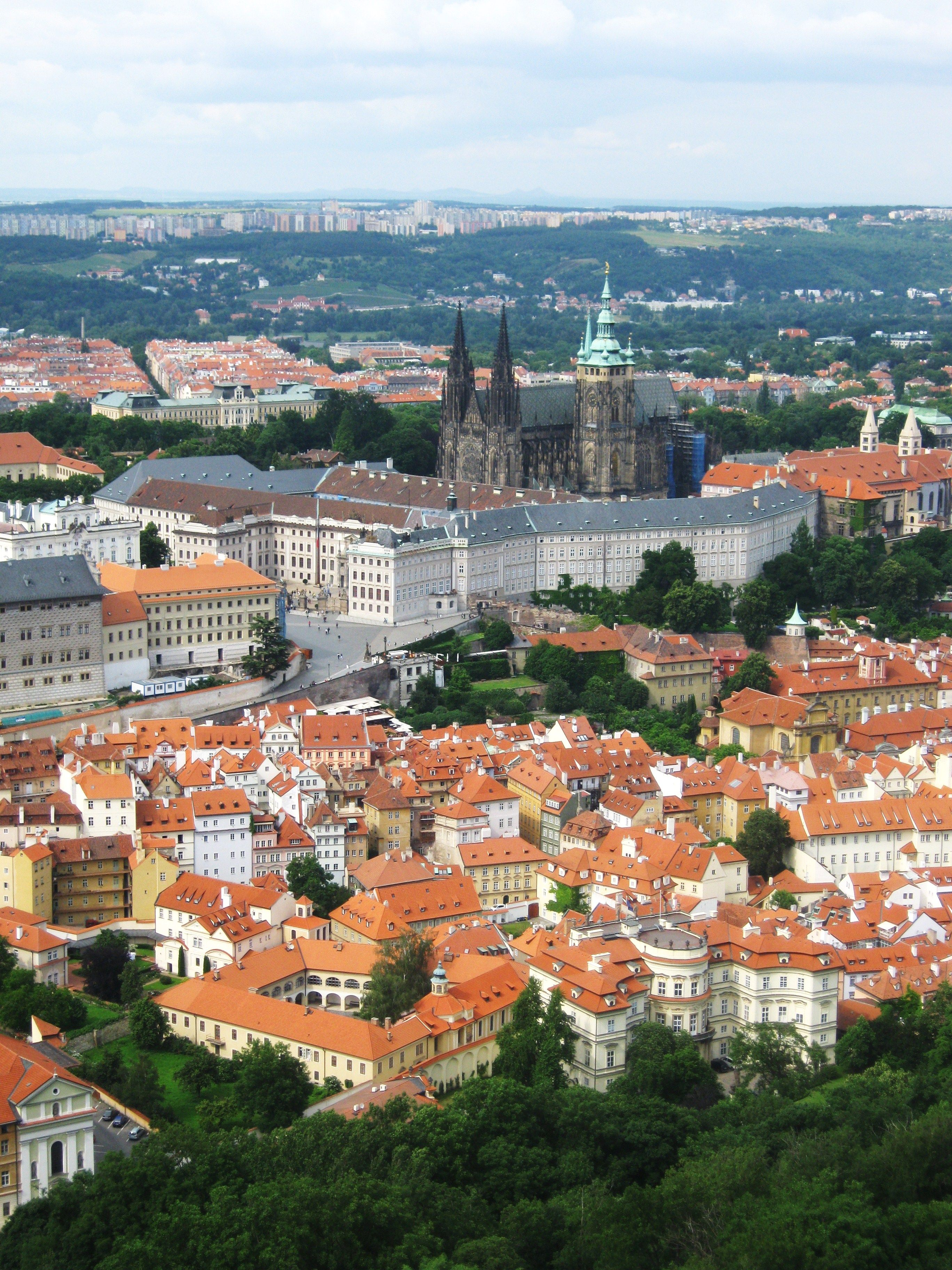 Prague from Petrin Tower.