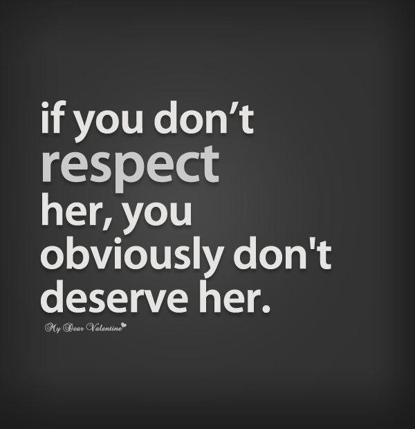 Women deserve more respect