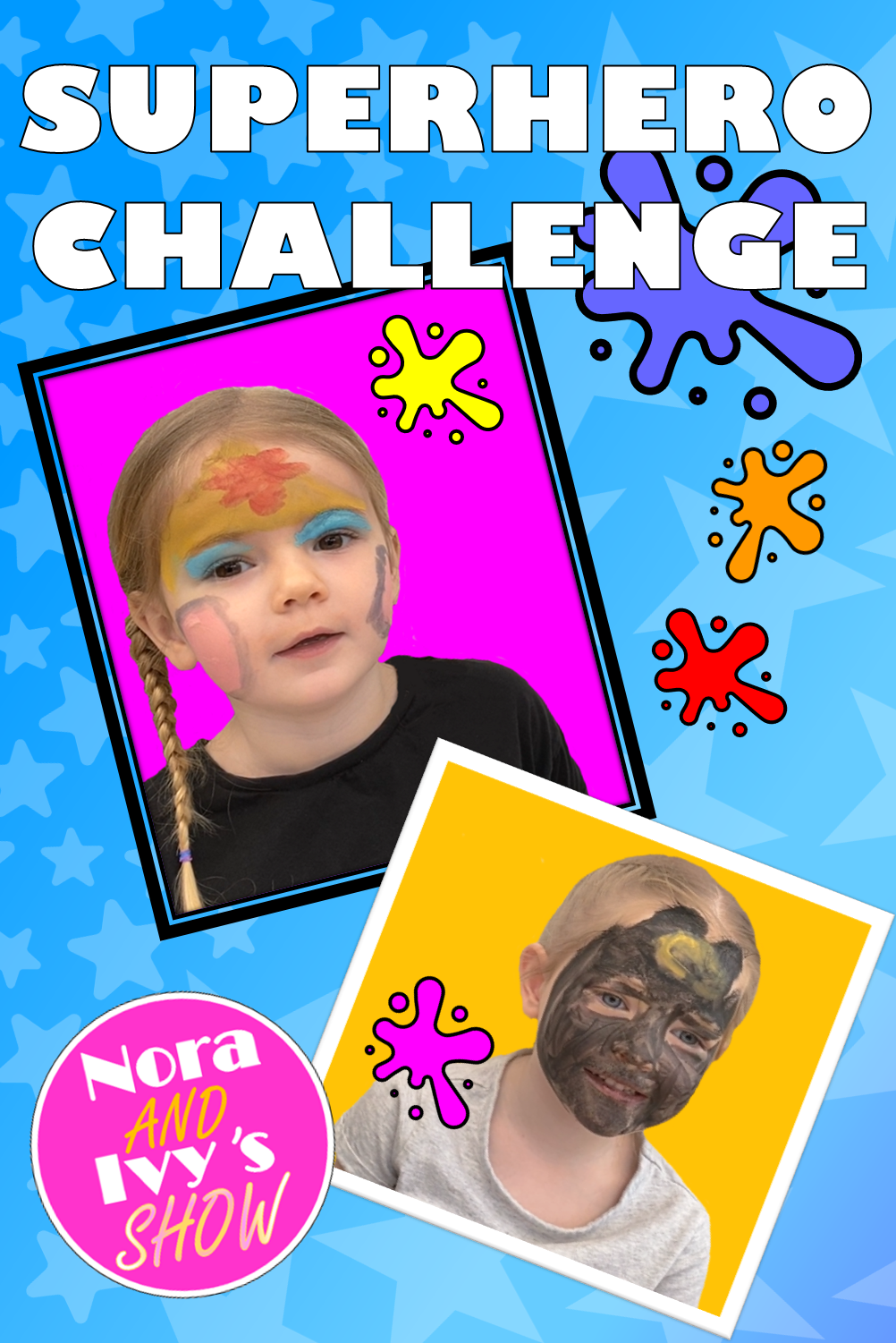 Face Painting Challenge | Welk superheldenkarakter zijn ze?,  #CHALLENGE #Face #facepaintingideasforkids #Painting #superheldenkarakter #Welk #zijn