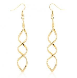 14k Yellow Gold Bonded Twisting Drop Dangle Earrings All Things Luxury