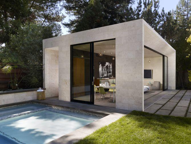 Modern Pool House And Garden Sonoma Modern Pool House Pool Houses Pool House Designs