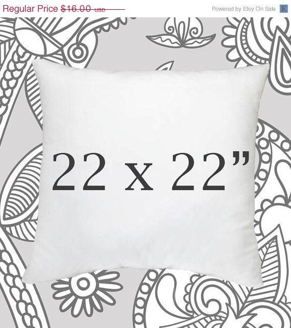 SALE ENDS SOON Pillow Insert 40x40 Inch Pillow Forms Pillows Best Down Pillow Inserts 22x22