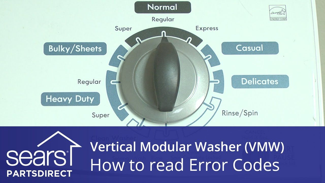 How To Read A Vertical Modular Washer Vmw Error Code Display Washer Washer Repair Coding