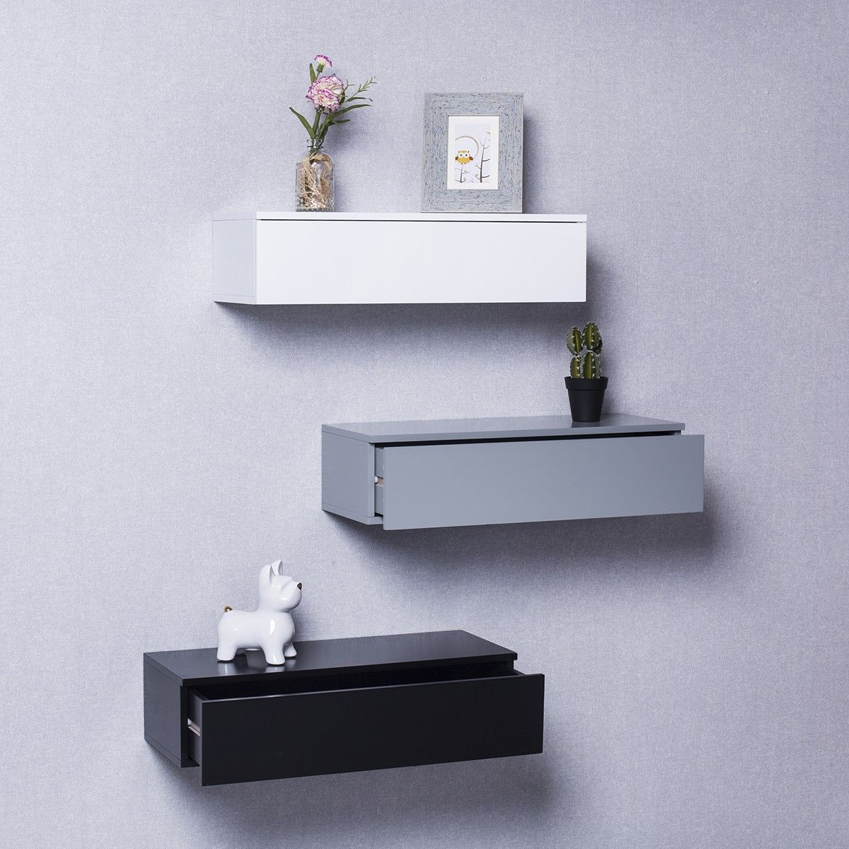Senja Wall Drawer Black Floating Drawer Drawers Floating