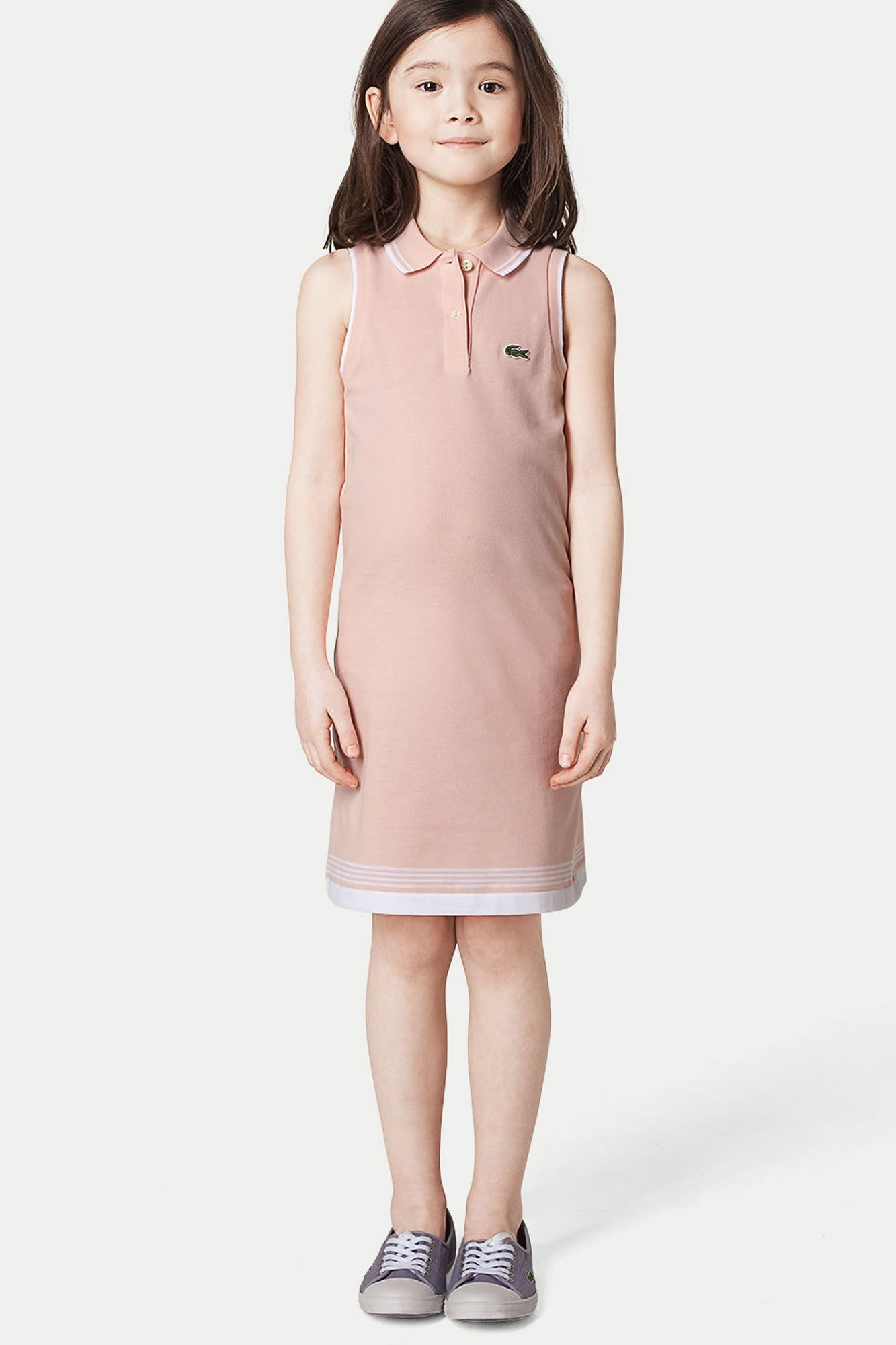 7b26a9ddb350 Lacoste Girl s Sleeveless Pique Polo Dress With Hemline Stripe On sale for  50% off today! Sizes may vary.