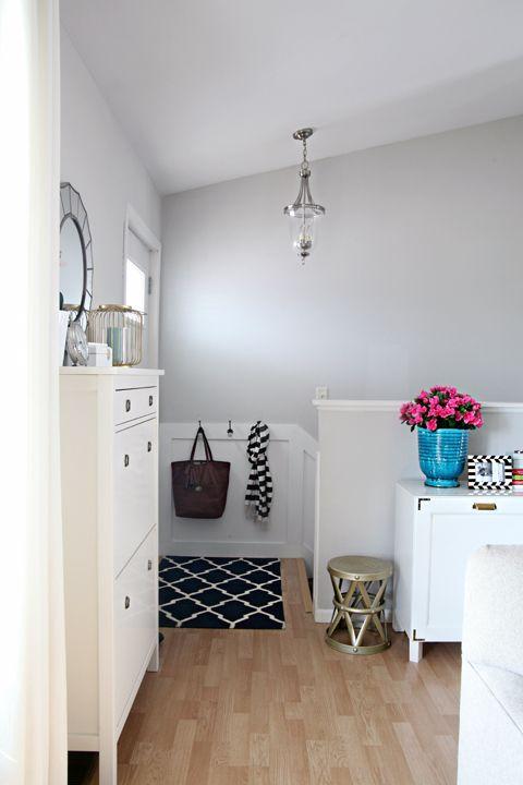 Glidden Smooth Stone Living Room Update Beige Grey