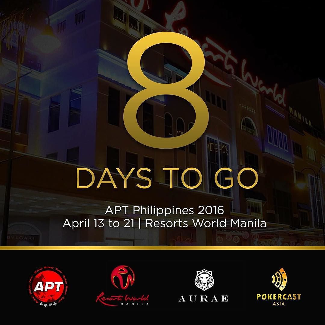8 days to go before the asian poker tour philippines 2016