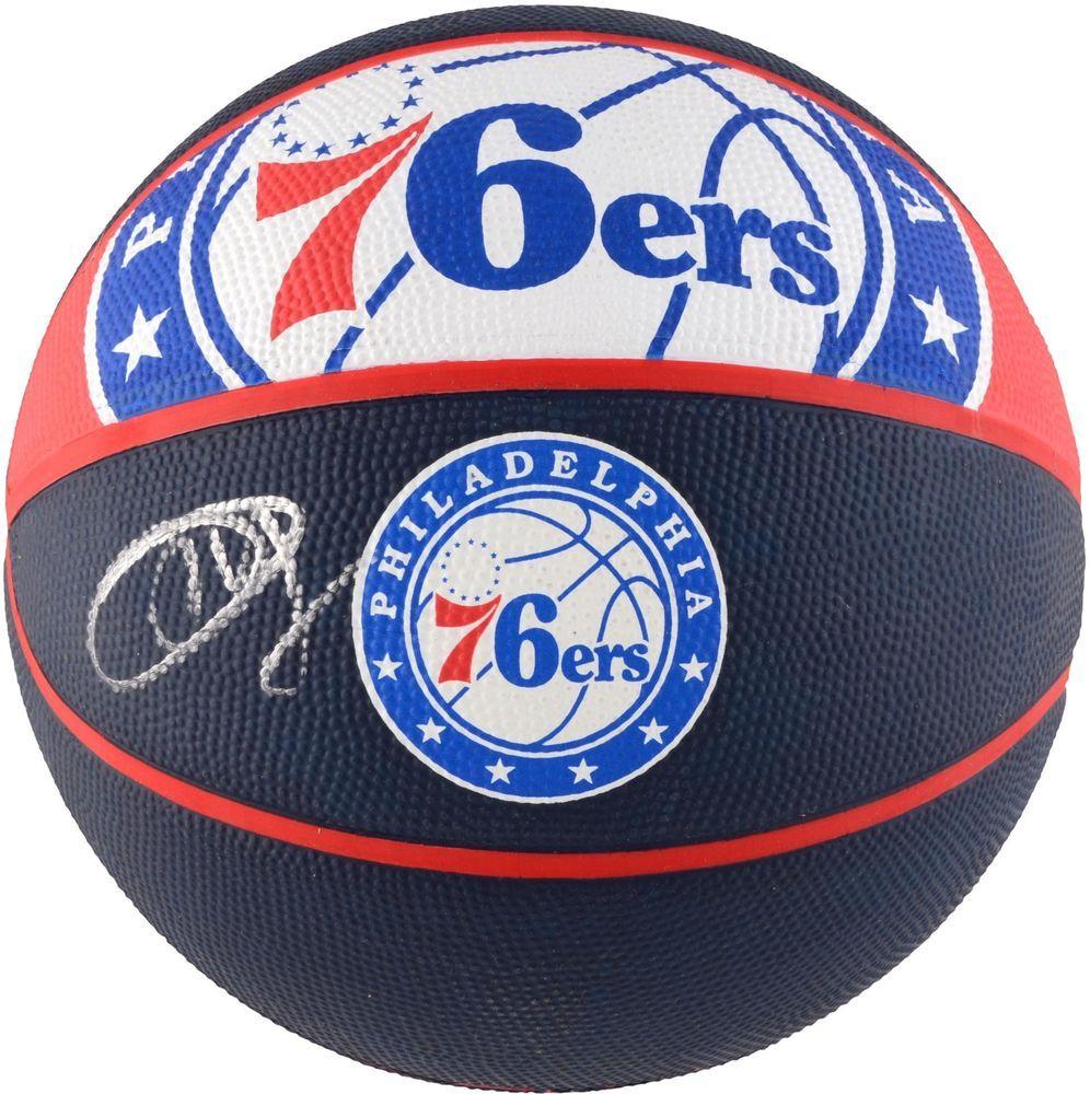 bdda9970c18 Joel Embiid Philadelphia 76ers Autographed Courtside Logo Basketball -  Fanatics
