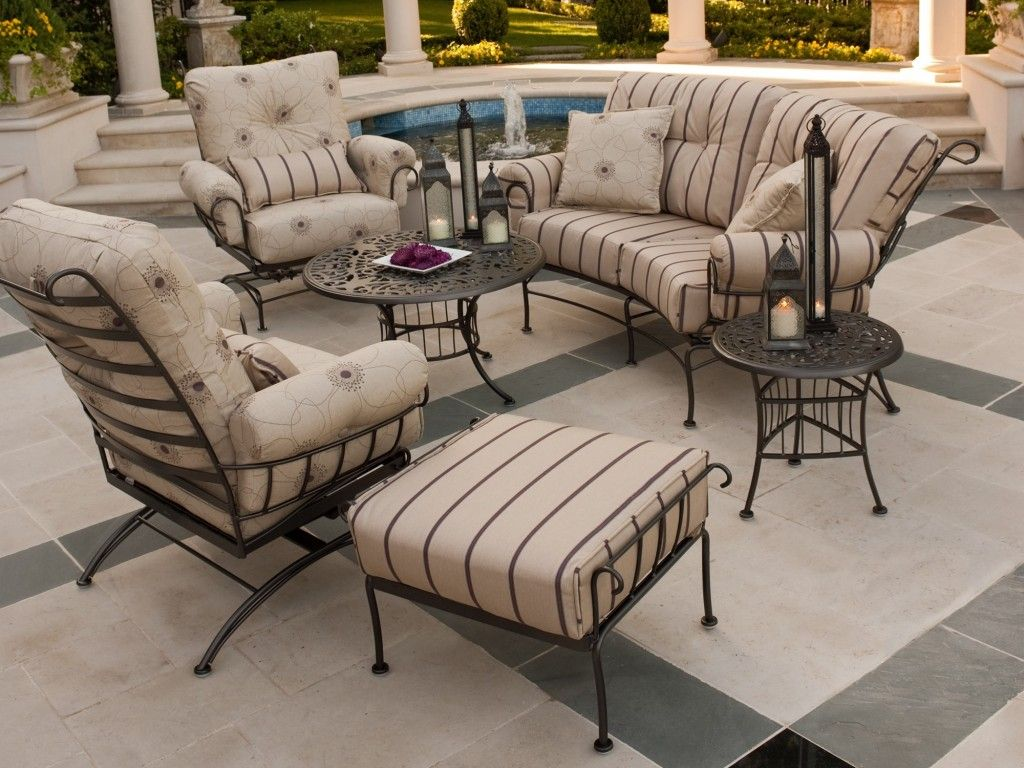High Quality Wrought Iron Patio Furniture Cushions