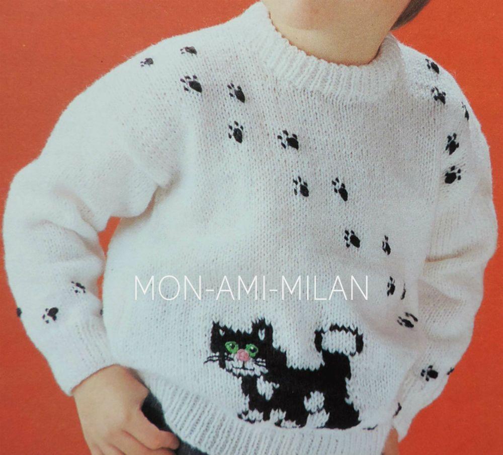 Knitting pattern to make postman pat childs jess cat motif jumper knitting pattern to make postman pat childs jess cat motif jumper boys girls dt1010fo