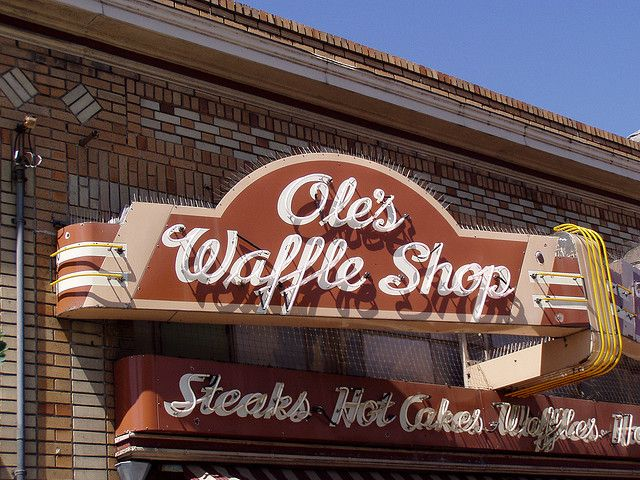 Ole's Waffle Shop - Alameda, CA (I love this little mid-century diner)