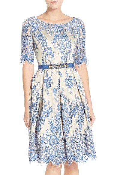 cbfcb16092b Eliza J Lace Fit   Flare Dress (Regular   Petite) available at  Nordstrom