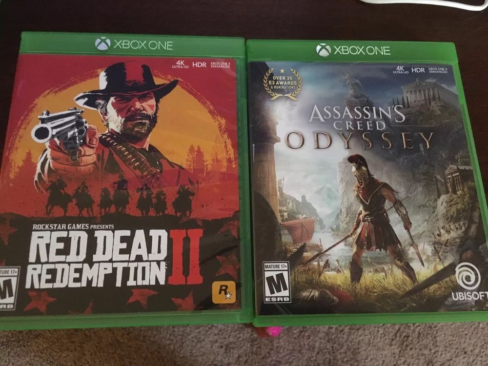 red dead redemption 2, Assassins Creed Odyssey Xbox One Lot