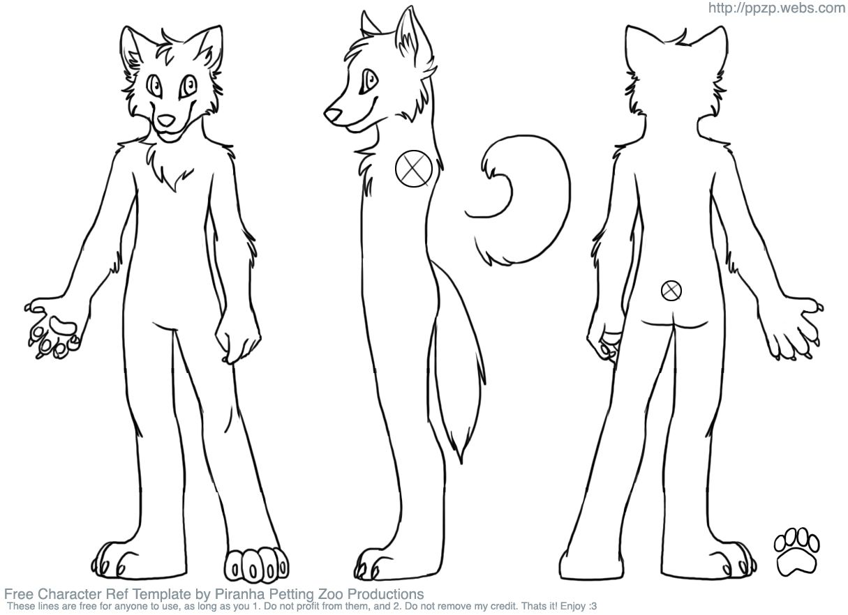 Fursuit Line Art Great For Ref Sheets If You CanT Draw Furries