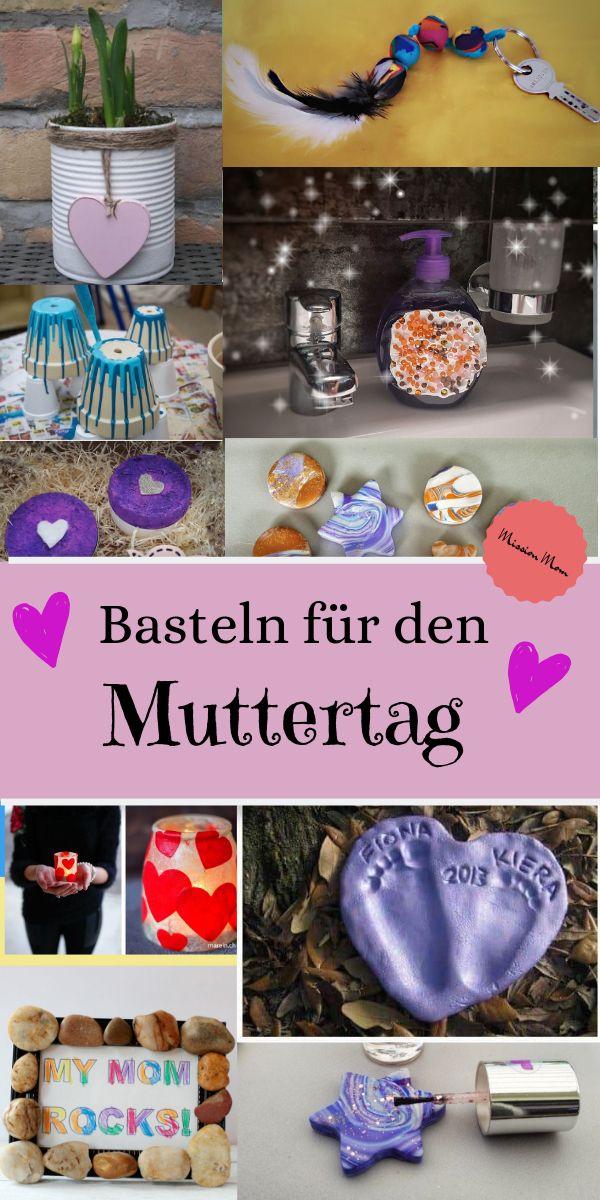 Viele, einfache Ideen für ein Muttertaggeschenk mit Kindern #bastelideenkinder