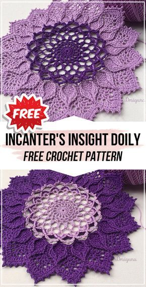 Photo of crochet Incanter's Insight Doily free pattern