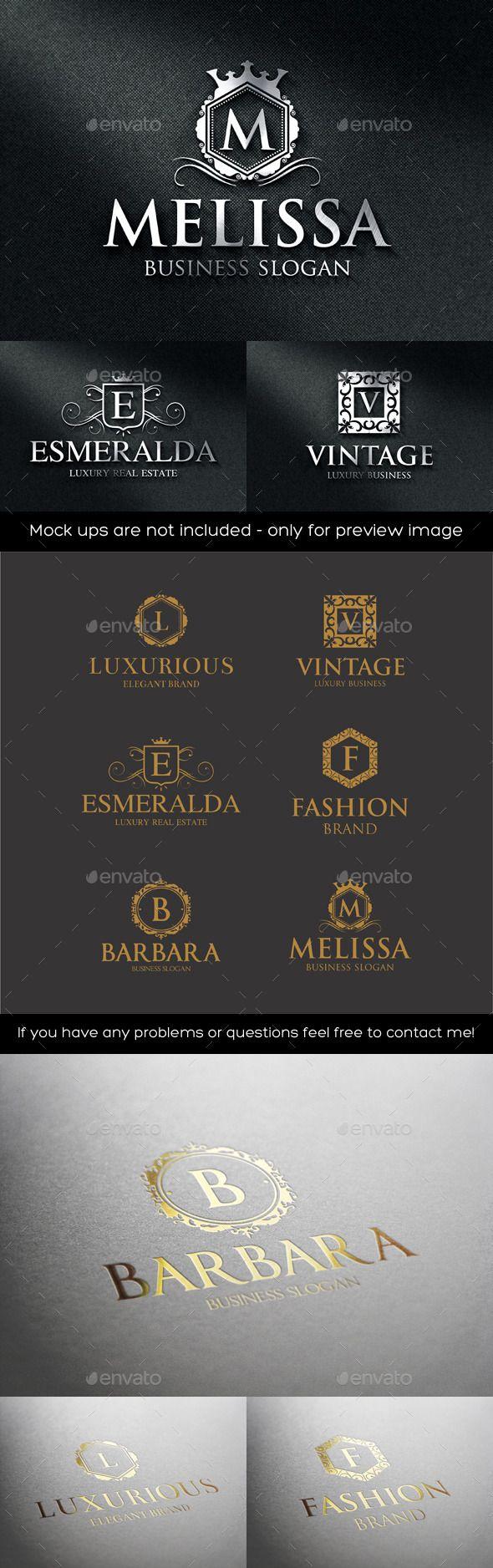 Wonderful Luxurious Elegant Vintage Boutique Logos   Badges U0026 Stickers Web Elements