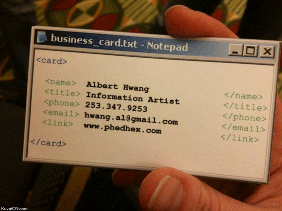 Funny Pictures About Notepad Business Card Oh And Cool Pics Also Photos