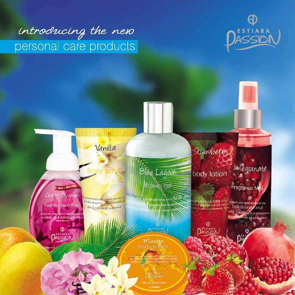 Estiara Passion Scrub Lotion Handwash Bodymist Showergel