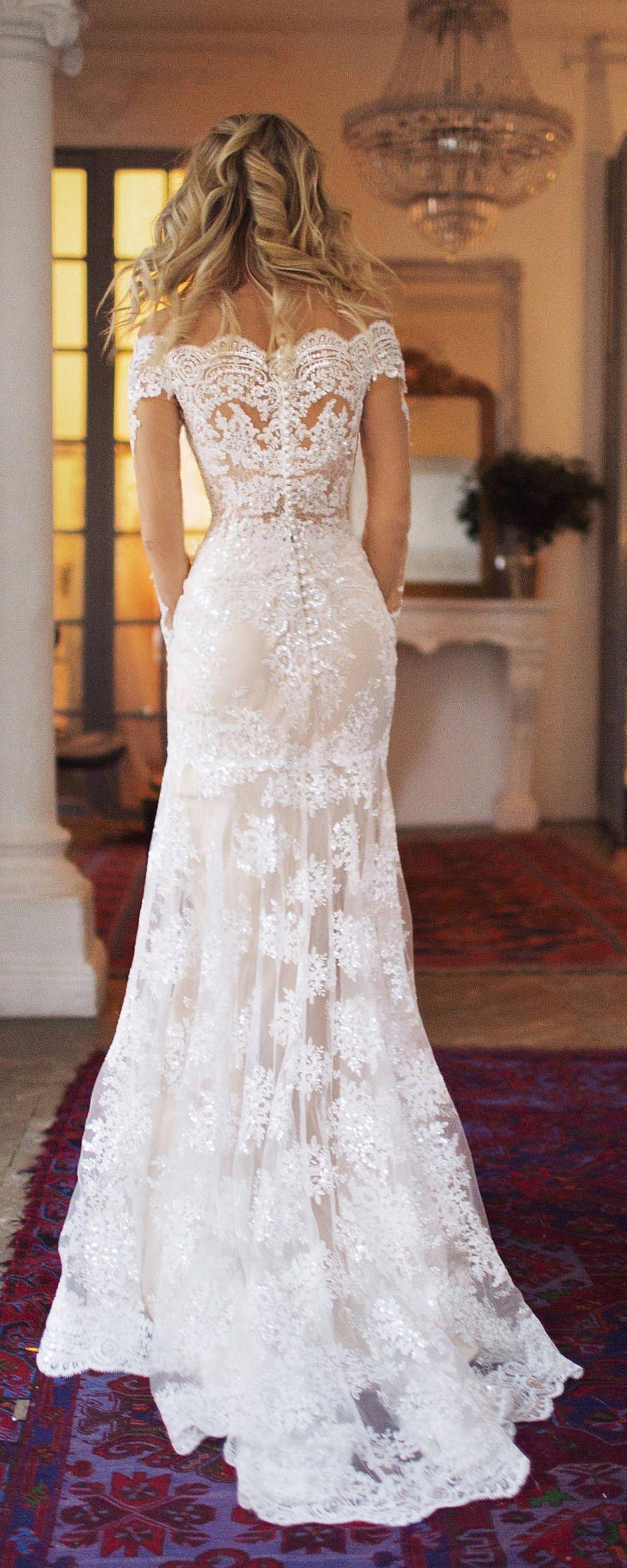 detachable train wedding dress Nektaria ,off the shoulder