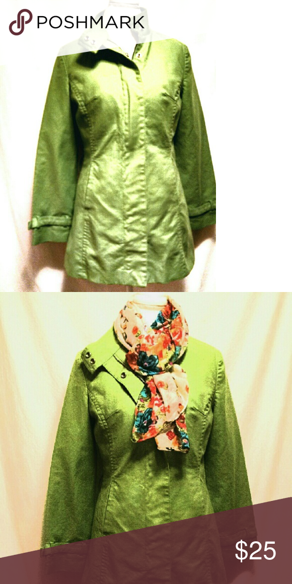 Lined jacket Long sleeve bright green lined jacket. Like new condition! Mossimo Supply Co. Jackets & Coats