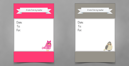 note cards for teachers