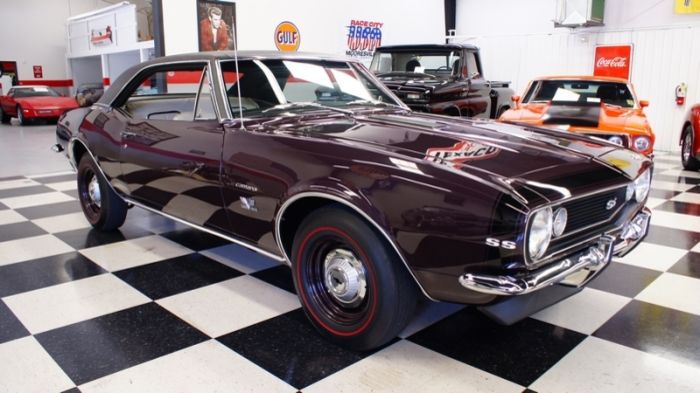 example of royal plum paint on a 1967 gm camaro