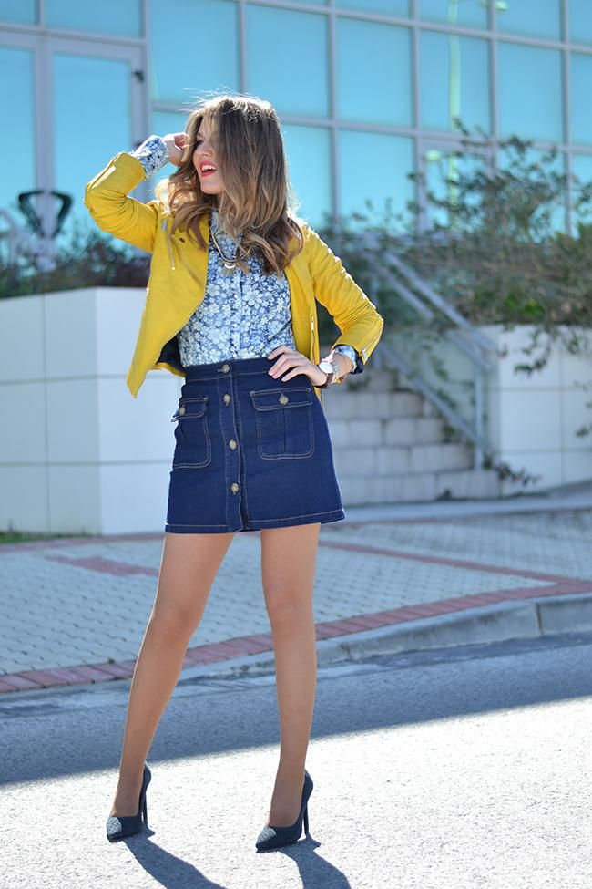 20 Modern Ways to Style a Denim Skirt for Spring | Mini skirts ...