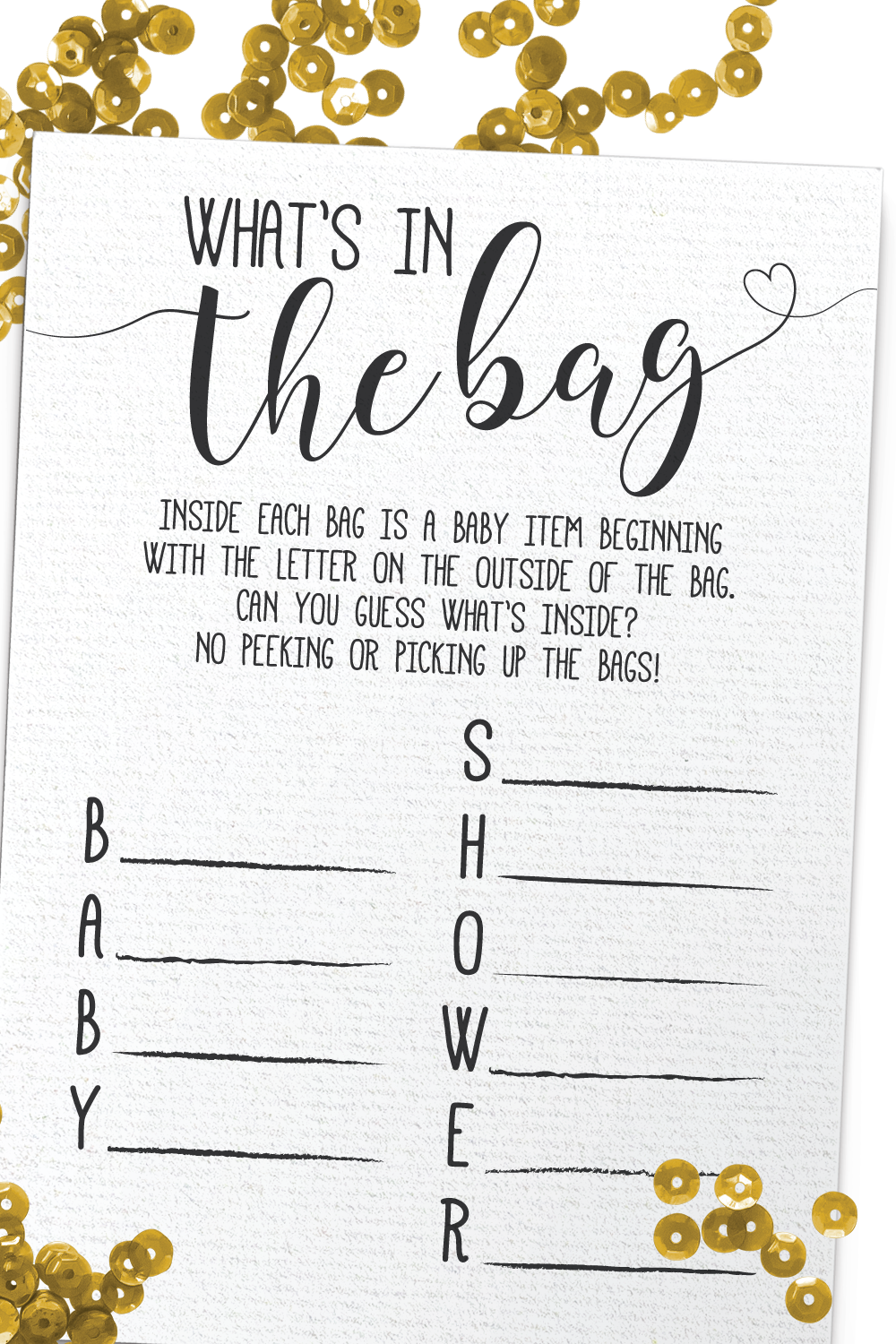 Whats In The Bag Baby Shower : whats, shower, What's, Shower, Games,