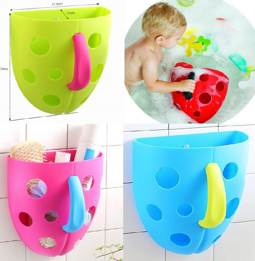 FD2173 Bath Toy Organizer Storage Bin Toddler Bathroom Bag Net Super ...