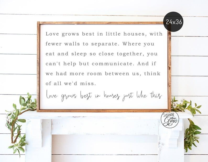 Large Printable Love Grows Best In Little Houses Etsy Large Printable Little Houses Farmhouse Wall Art
