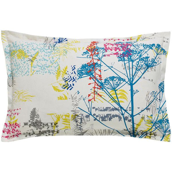 Clarissa Hulse Backing Cloth Oxford Pillowcase (£20) ❤ liked on Polyvore featuring home, bed & bath, bedding, bed sheets, multi, floral bedding, multi color bedding, floral pillowcases, multi colored bedding and clarissa hulse