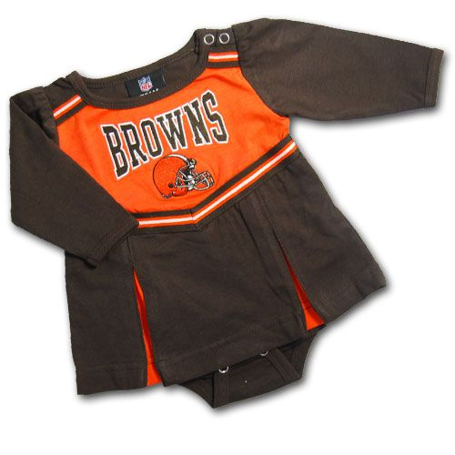 c3a4fcdd Browns Newborn Cheerleader Dress #Cleveland #Browns #Infant #Baby ...