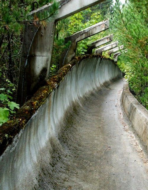 1984 Winter Olympics bobsleigh track in Sarajevo, Bosnia and Herzegovina