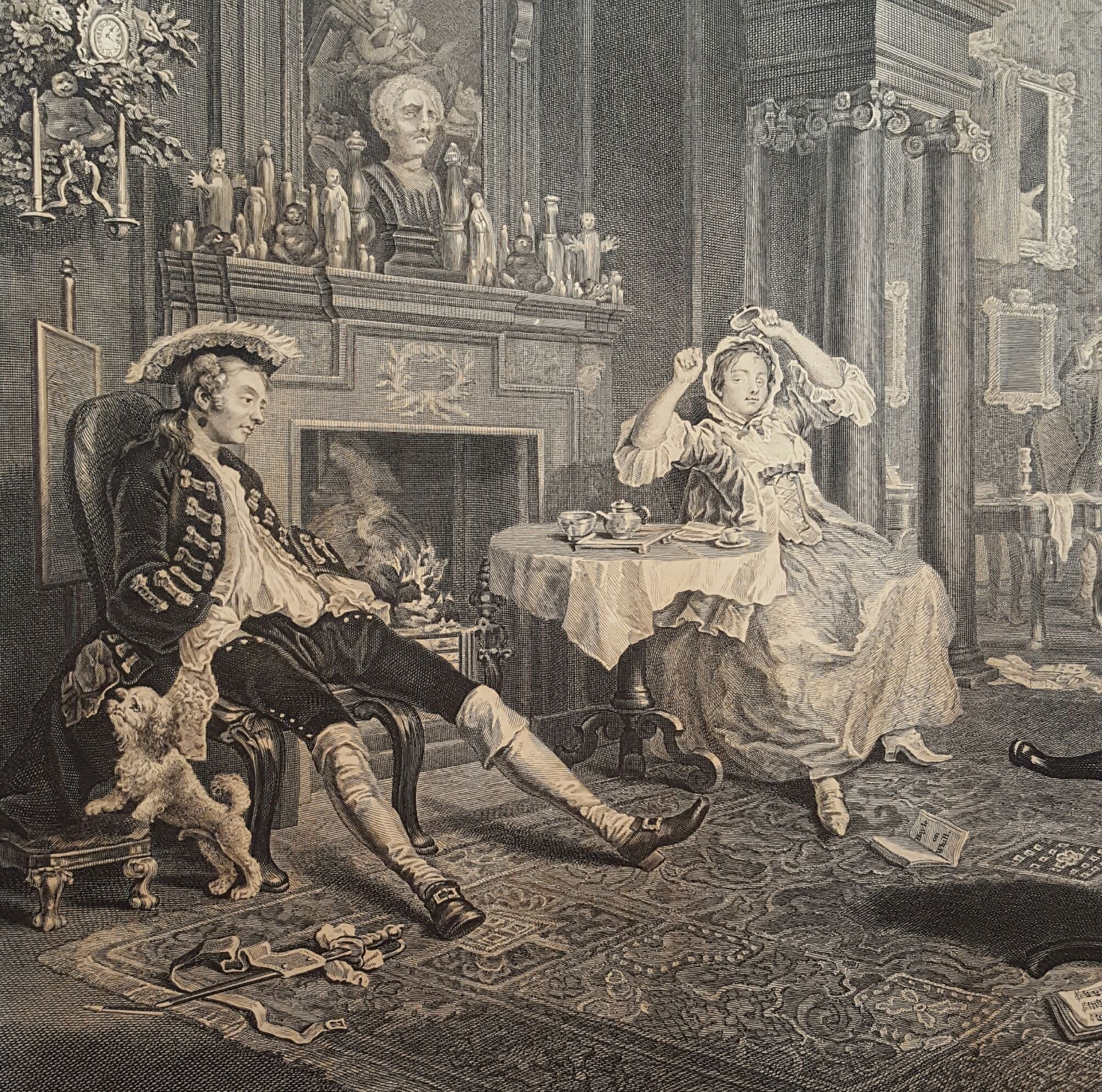William Hogarth Marriage A La Mode The Set Of Engravings William
