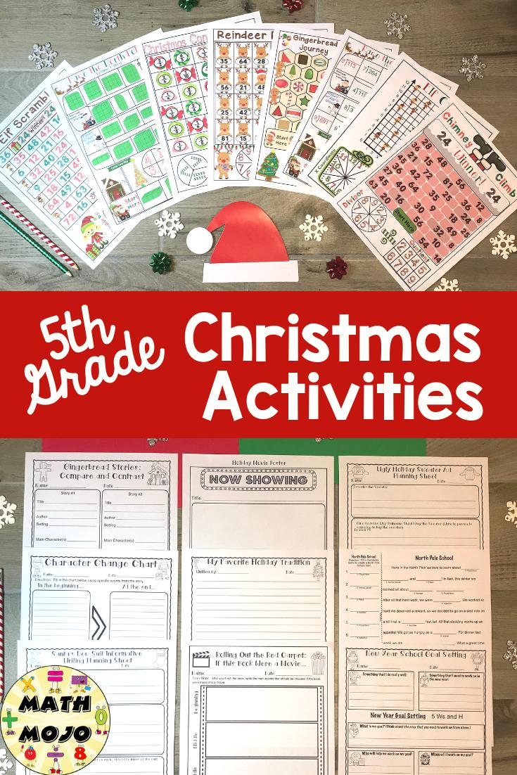 5th Grade Christmas Activities Classroom Christmas Activities Christmas Reading Activities Christmas Reading [ 1102 x 735 Pixel ]