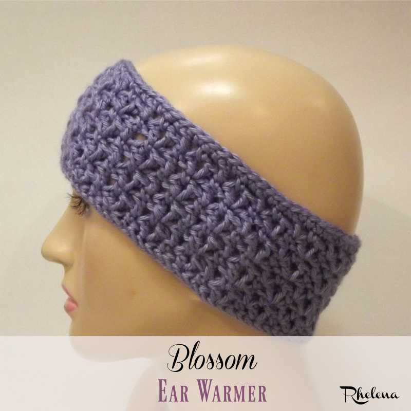 Free Crochet Pattern For The Blossom Ear Warmer The Pattern Is
