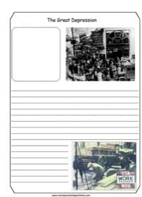 Photo of Great Depression Notebooking Page – Homeschool Helper Online