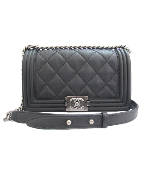 2e9586b3203f Chanel Le Boy Double Stitch Medium Flap Bag | Accessories | Chanel ...