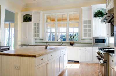timber kitchen white - Country White Kitchen