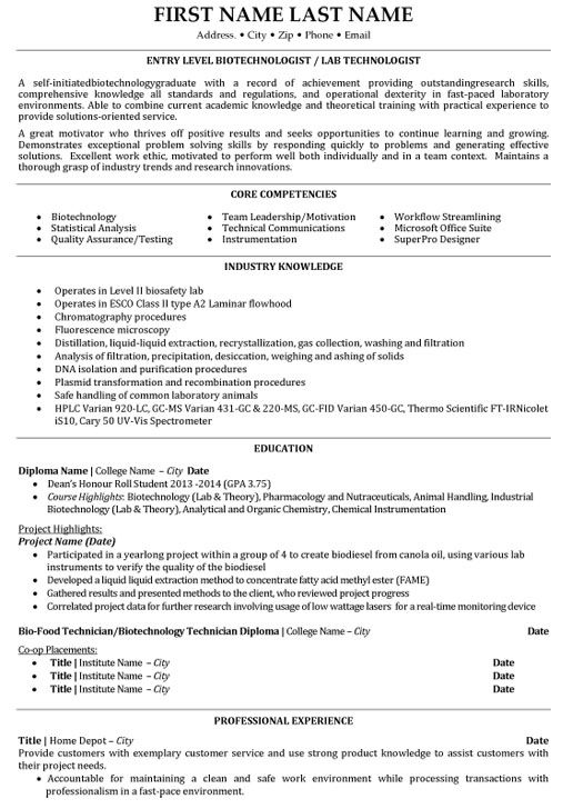 Top Biotechnology Resume Templates Samples Resume Examples Student Resume Template Biotechnology