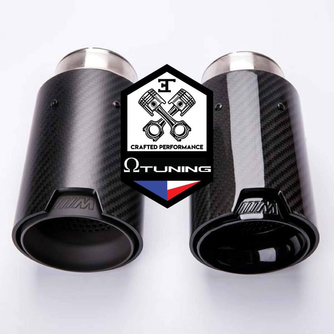 bmw m style carbon exhaust tips single