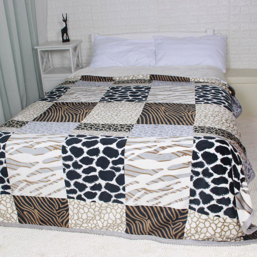 Winter Thick Big Size Flannel Bed Blankets Plaid Fuzzy Plush Bedding