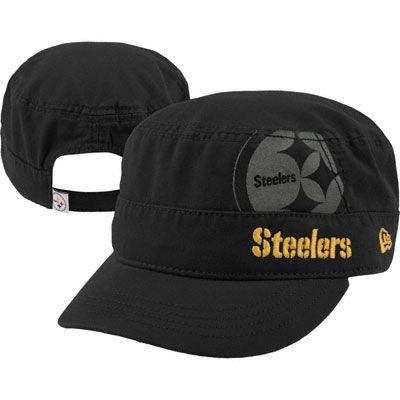 60911a00a Pittsburgh Steelers Women's Black New Era Goal-2-Go Military Adjustable Hat