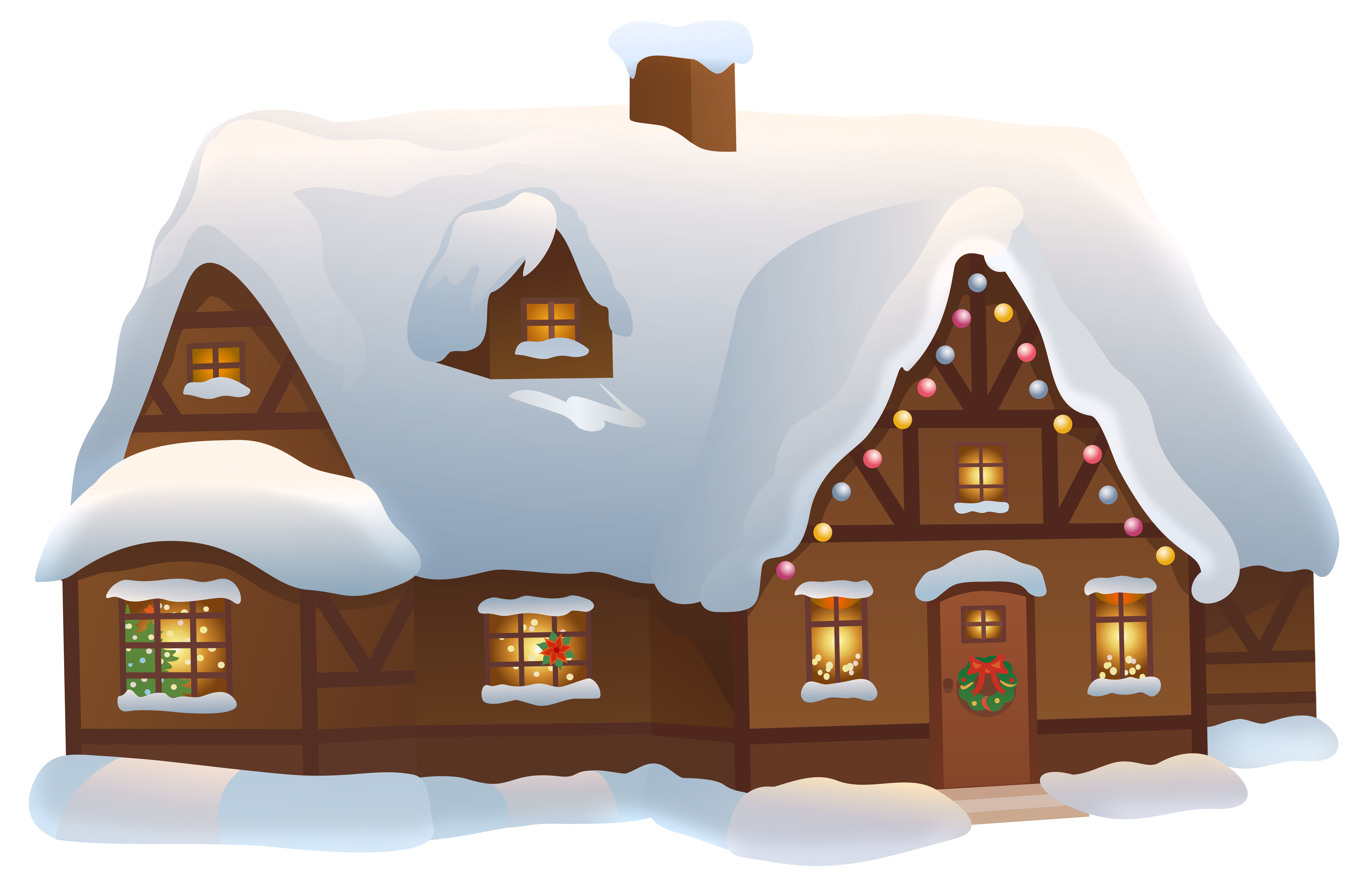 Christmas House Transparent PNG Clip Art Image Gallery
