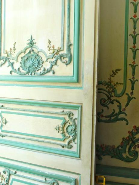 Beautiful door, Dauphine's bedroom, Versailles (my photo)