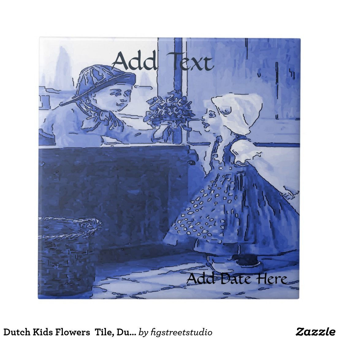 Dutch kids flowers tile dutch look personalize ceramic tile delft dutch kids flowers tile dutch look personalize ceramic tile dailygadgetfo Image collections