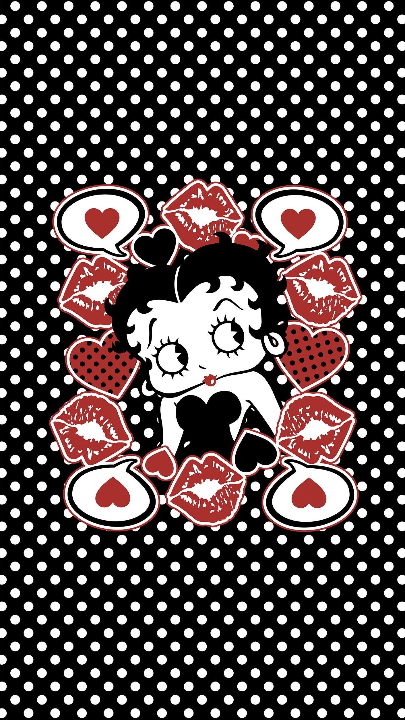 Betty Boop Glitter Wallpaper Betty Boop Matching Wallpaper