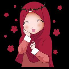 Pin On Cute Muslima Stickers